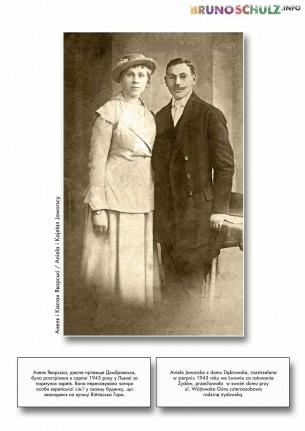 Aniela Jaworska z domu Dąbrowska, rozstrzelana w sierpniu 1943 roku we Lwowie za ratowanie Żydów, przechowała w swoim domu ...